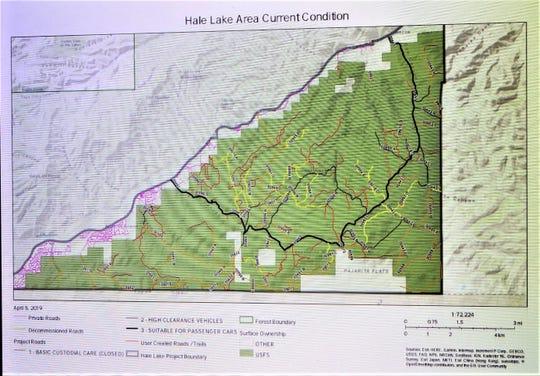 Hale Lake travel map