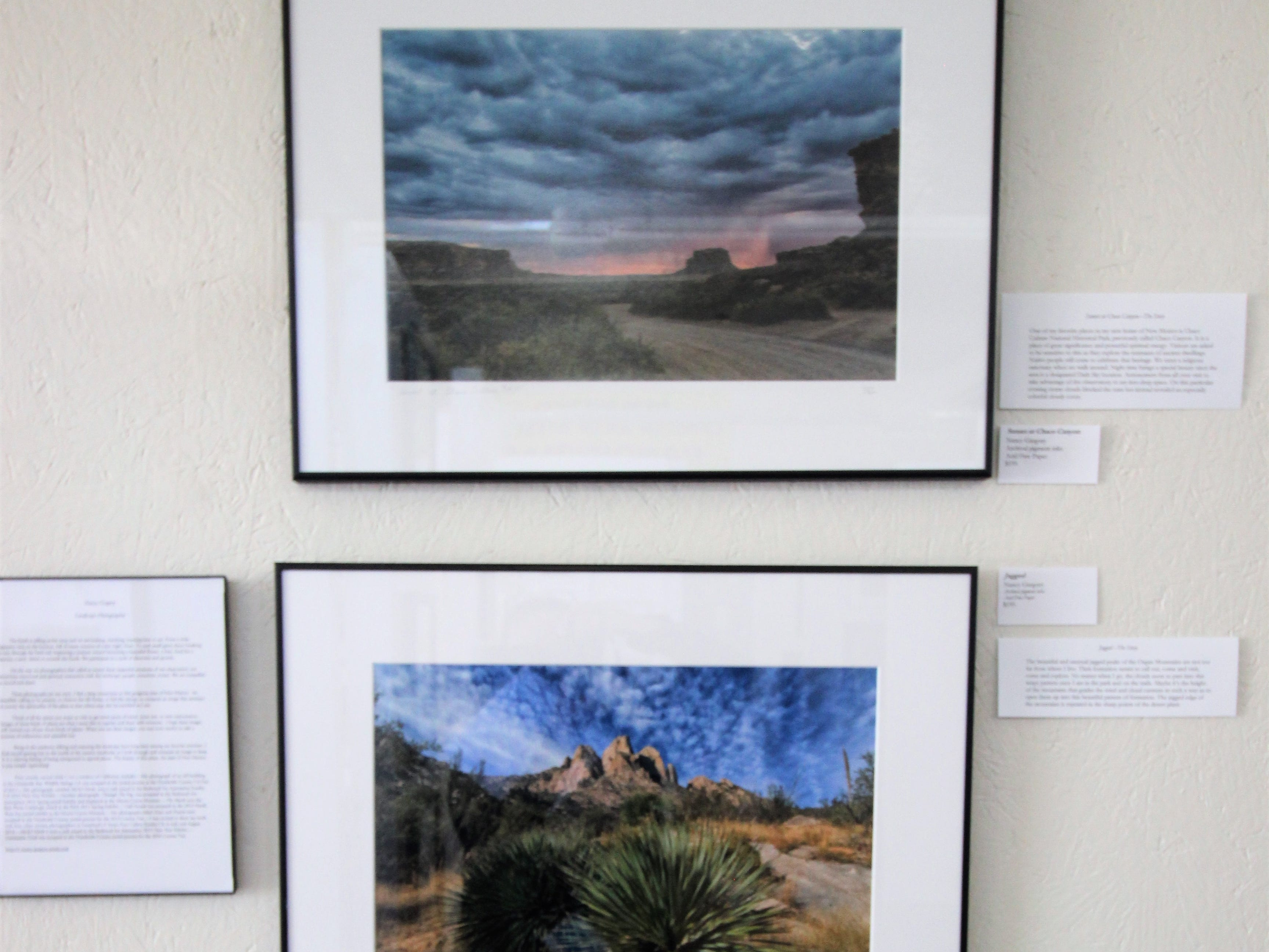 Nancy Gregory's photographs of White Sands National Monument is on exhibit at the Tularosa Basin Gallery of photography.
