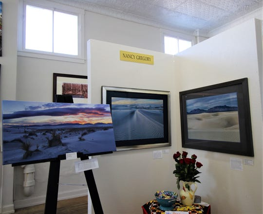 Nancy Gregory's pieces are on exhibit at the Tularosa Basin Gallery of Photography.