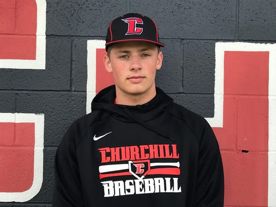 Churchill's Jake Rudd pitched a perfect game, striking out every batter he faced.