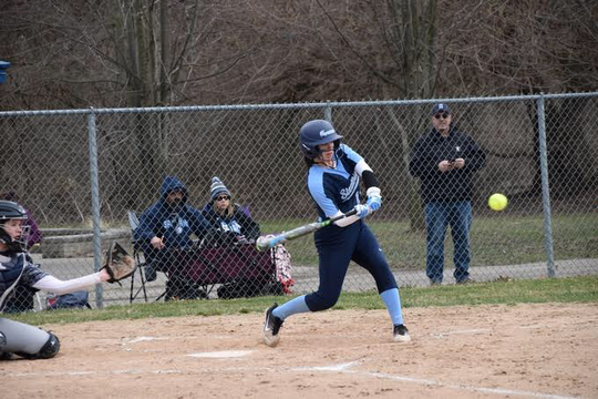 Stevenson outfielder Catherine Olschanski hit two home runs and had 12 RBIs last week.