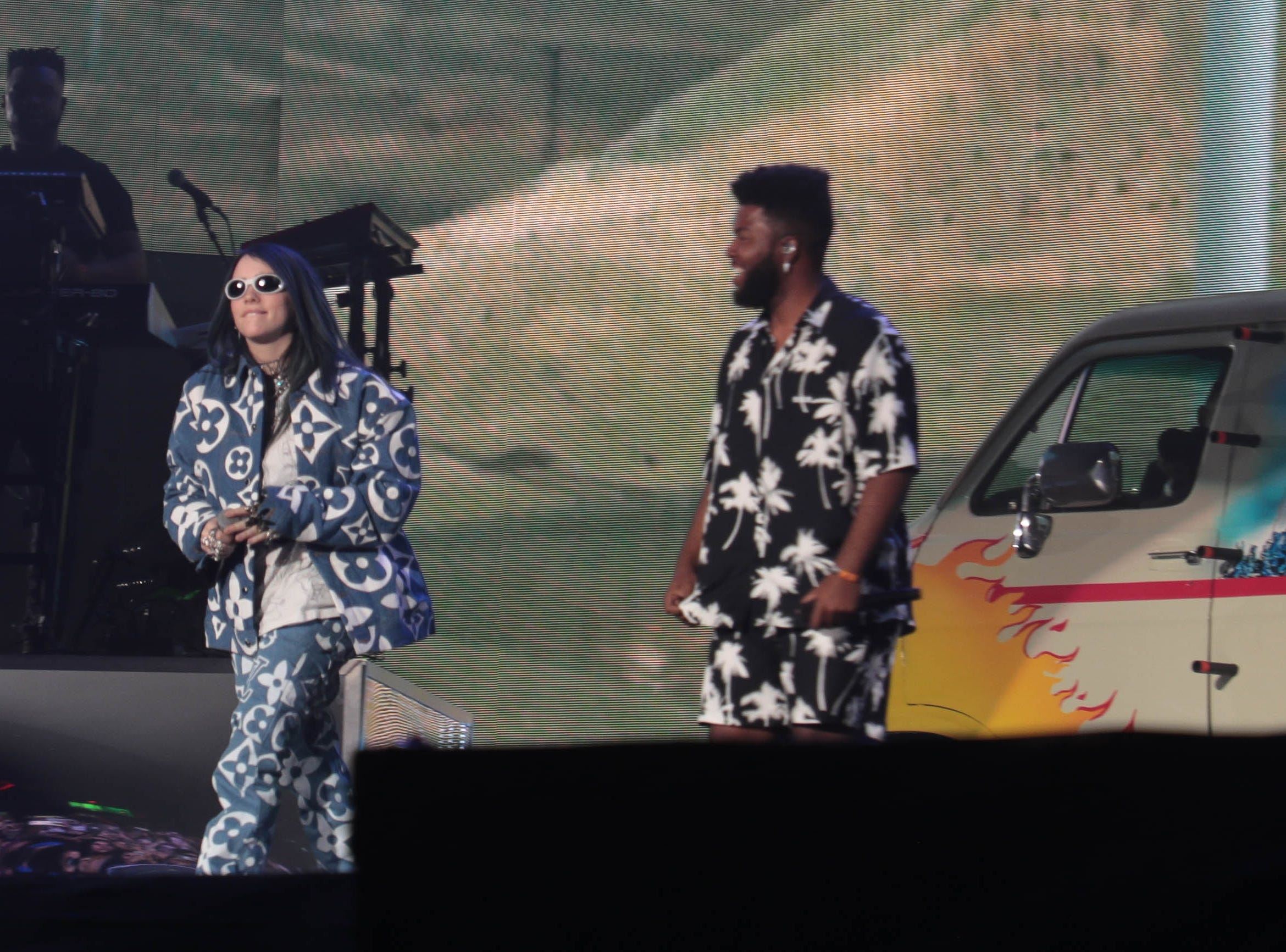 Billie Eilish and Khalid perform at the Coachella Valley Music and Arts Festival on Sunday, April 14, 2019 in Indio, Calif.