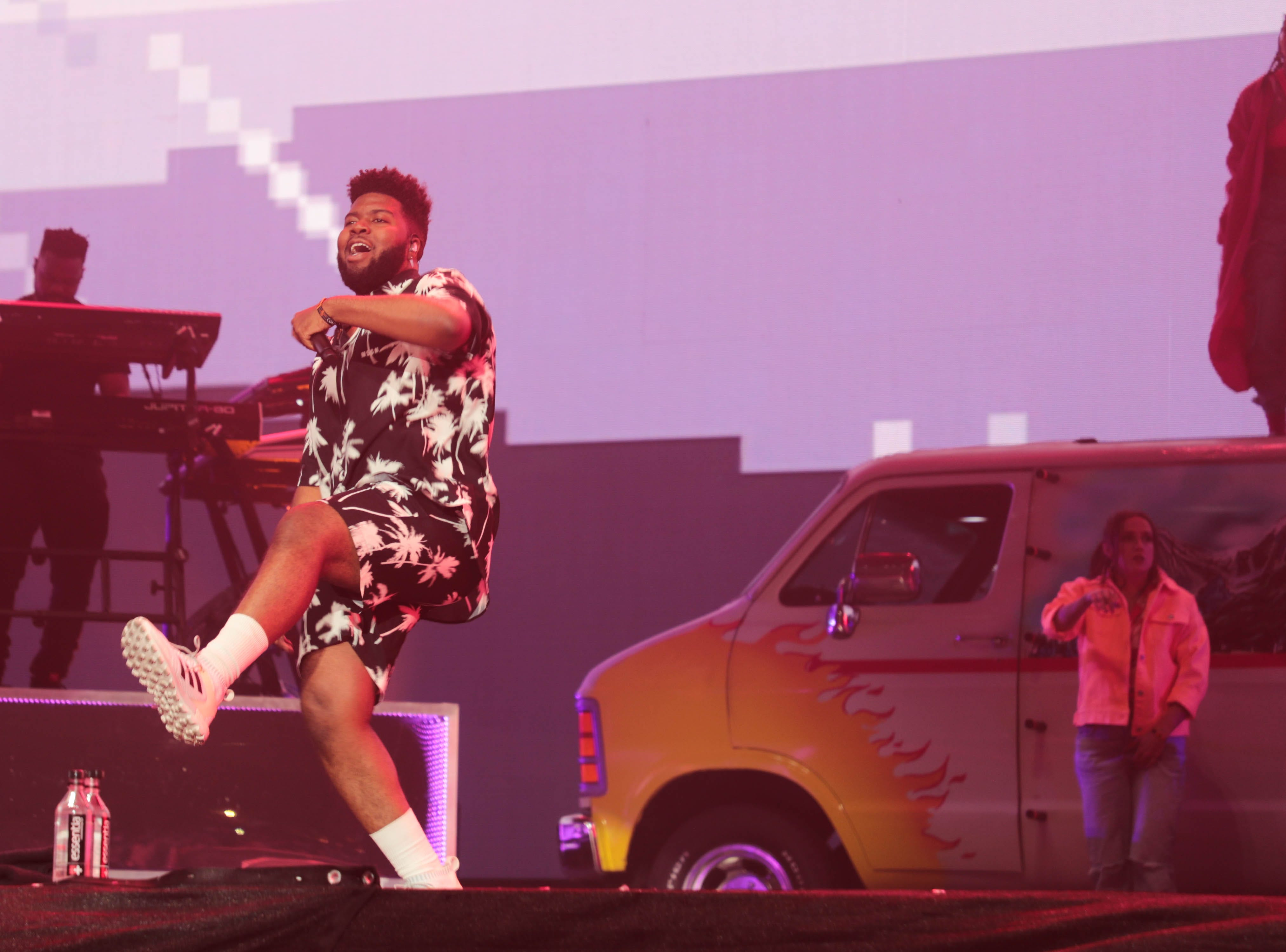 Khalid performs at the Coachella Valley Music and Arts Festival on Sunday, April 14, 2019 in Indio, Calif.