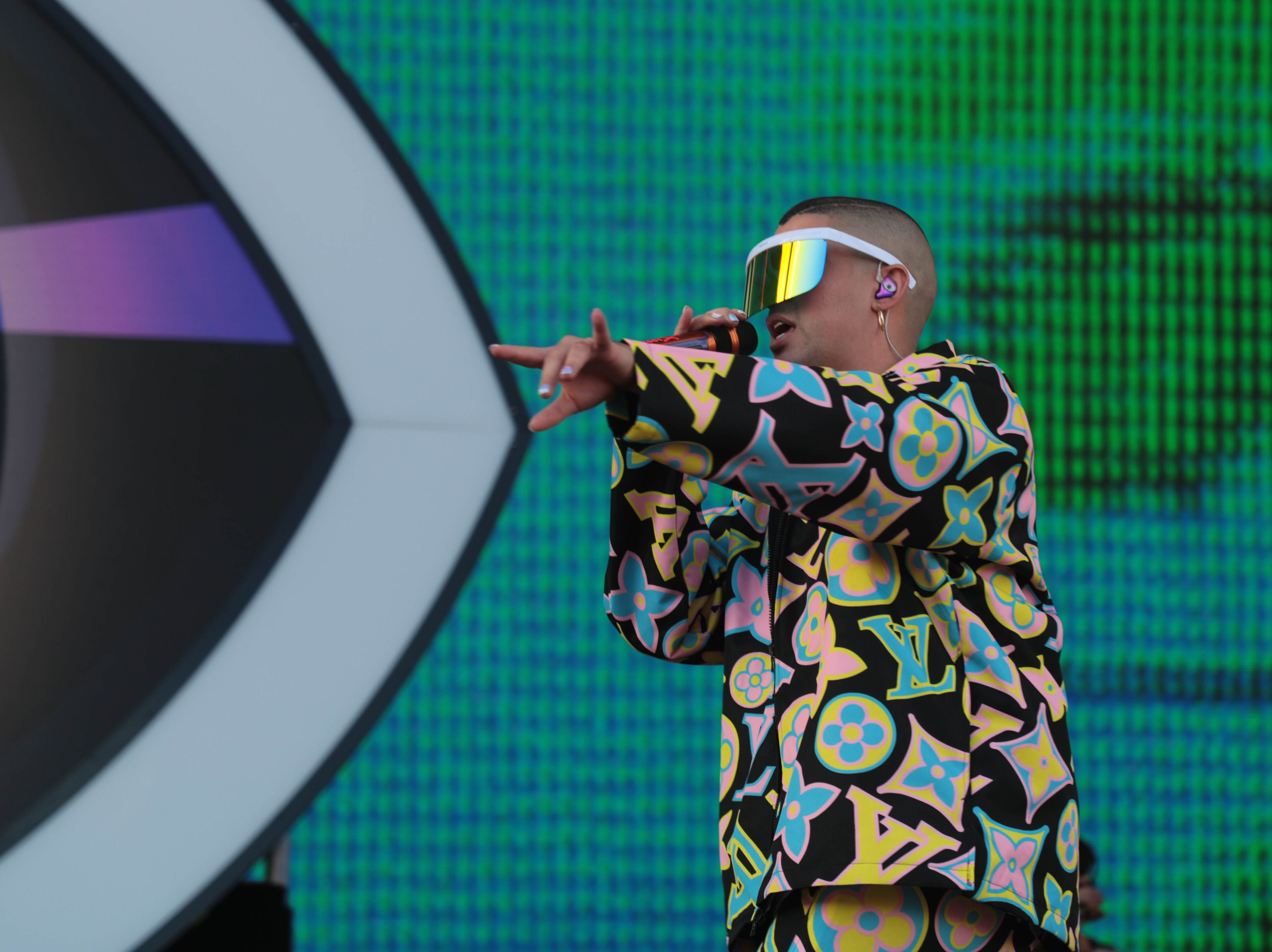 Bad Bunny performs at Coachella Valley Music and Arts Festival on Sunday, April 14, 2019 in Indio, Calif.