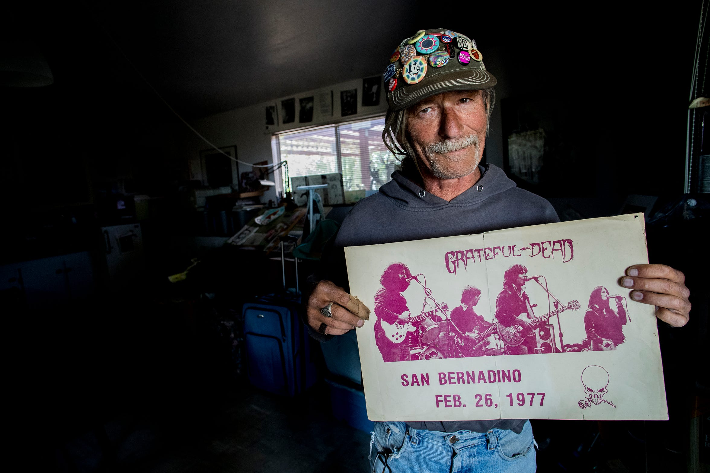 Mark Chlebda, a Twentynine Palms resident who designed the flyers and was an attendee at the Grateful Dead's legendary February 1977 concert at San Bernardino's Swing Auditorium, considered by many to be in the top 10 of all Grateful Dead shows.