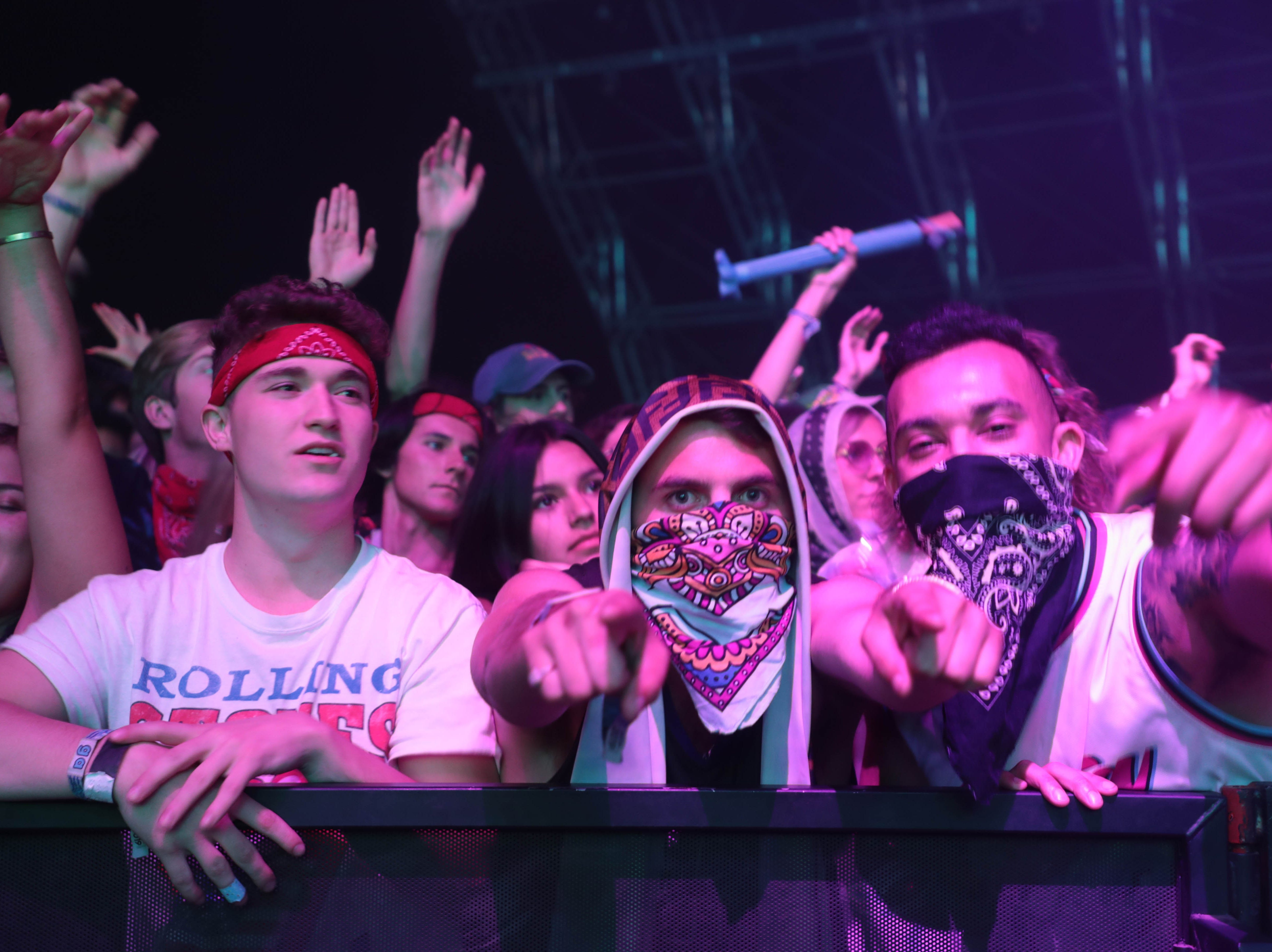 Dillon Francis performs at Coachella Valley Music and Arts Festival on Sunday, April 14, 2019 in Indio, Calif.