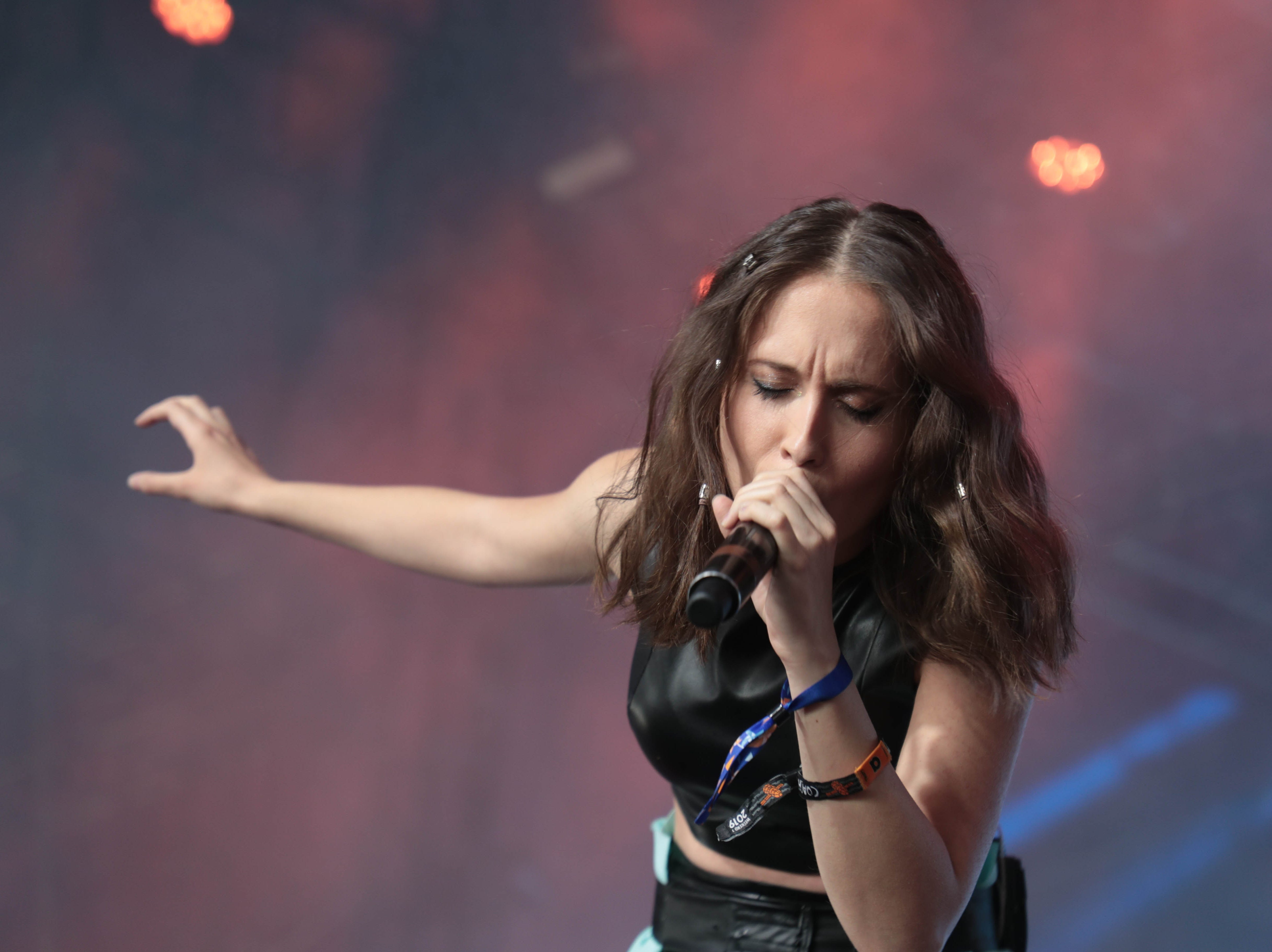 Alice Merton performs at Coachella Valley Music and Arts Festival weekend one on Sunday, April 14, 2019 in Indio, Calif.
