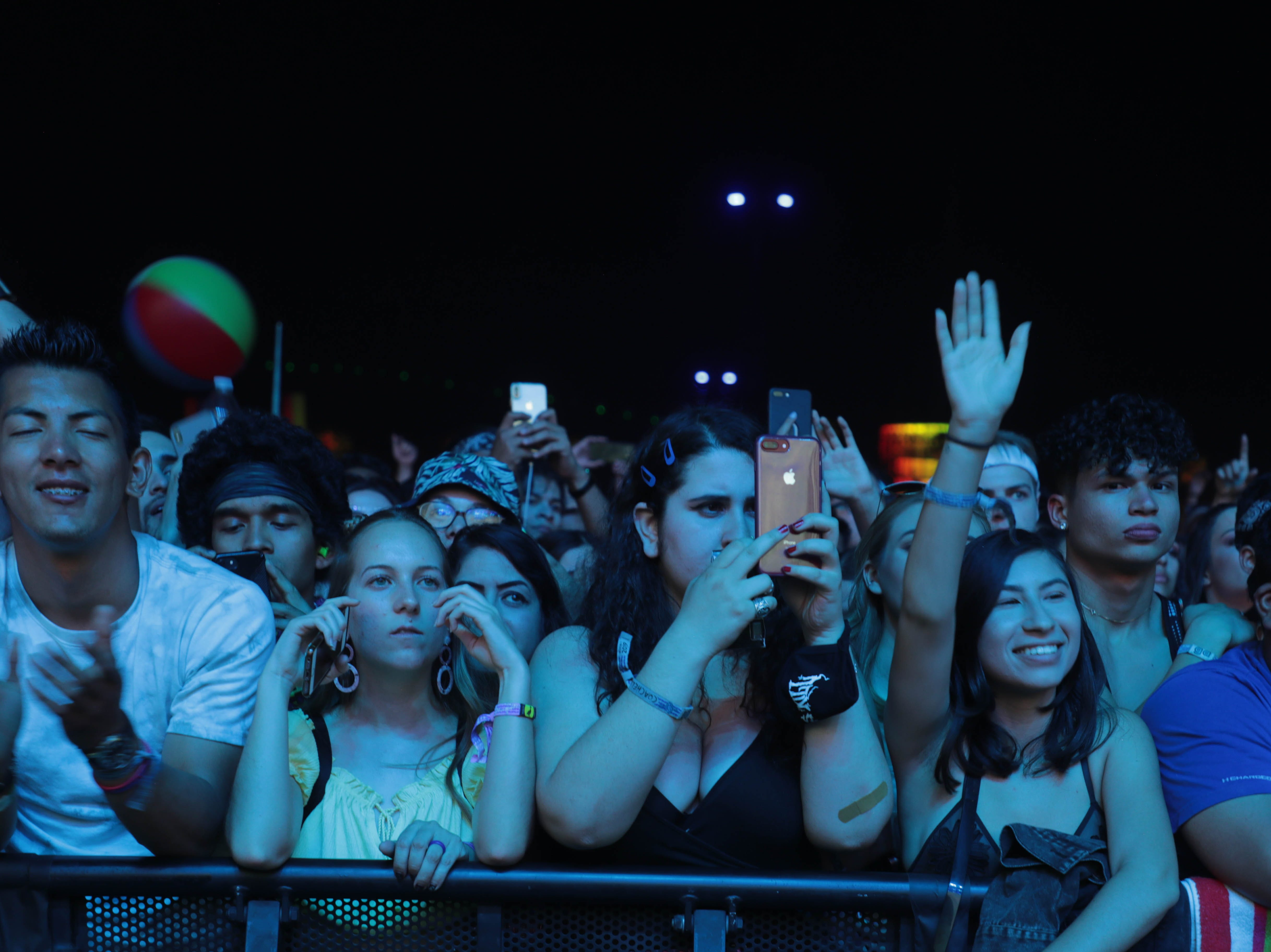 Fans listen as Khalid performs at the Coachella Valley Music and Arts Festival on Sunday, April 14, 2019 in Indio, Calif.