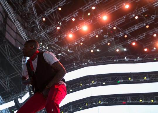 YG performs on the Sahara stage at the Coachella Valley Music and Arts Festival in Indio, Calif., on Sunday, April 14, 2019.