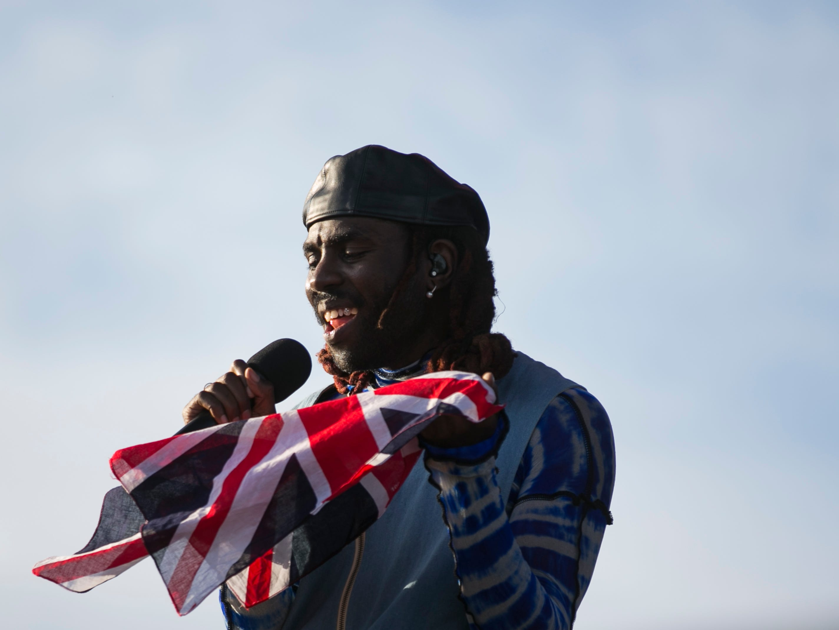 Blood Orange performs on the Outdoor stage at the Coachella Valley Music and Arts Festival in Indio, Calif., on Sunday, April 14, 2019.