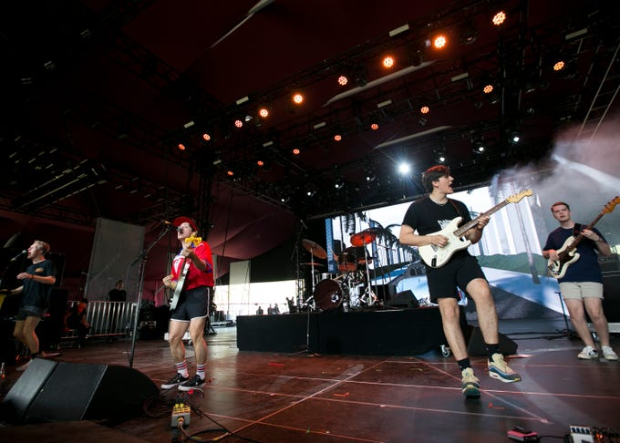 boy pablo plays the Gobi stage at the Coachella Valley Music and Arts Festival in Indio, Calif., on Sunday, April 14, 2019.