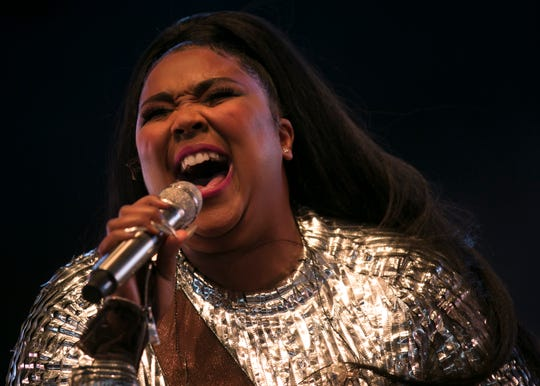 Lizzo performs on the Mojave stage at the Coachella Valley Music and Arts Festival in Indio, Calif., on Sunday, April 14, 2019.
