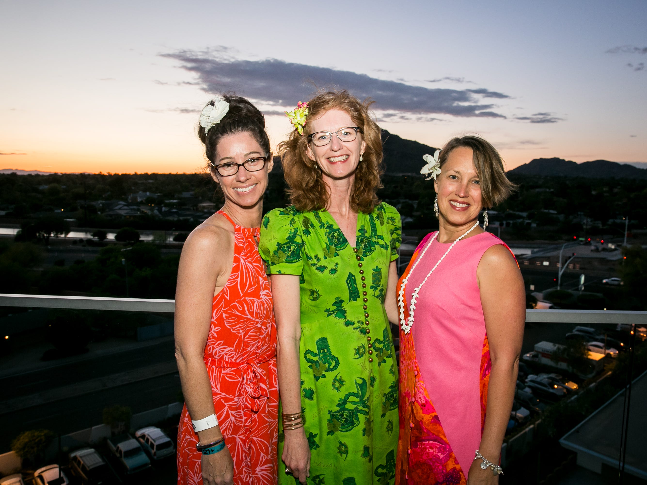 These ladies enjoyed a gorgeous sunset during Arizona Tiki Oasis at Hotel Valley Ho in Scottsdale on April 12, 2019.