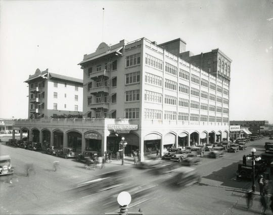 The five-story, 250-room Adams Hotel had replaced the original that burned to the ground in 1910.