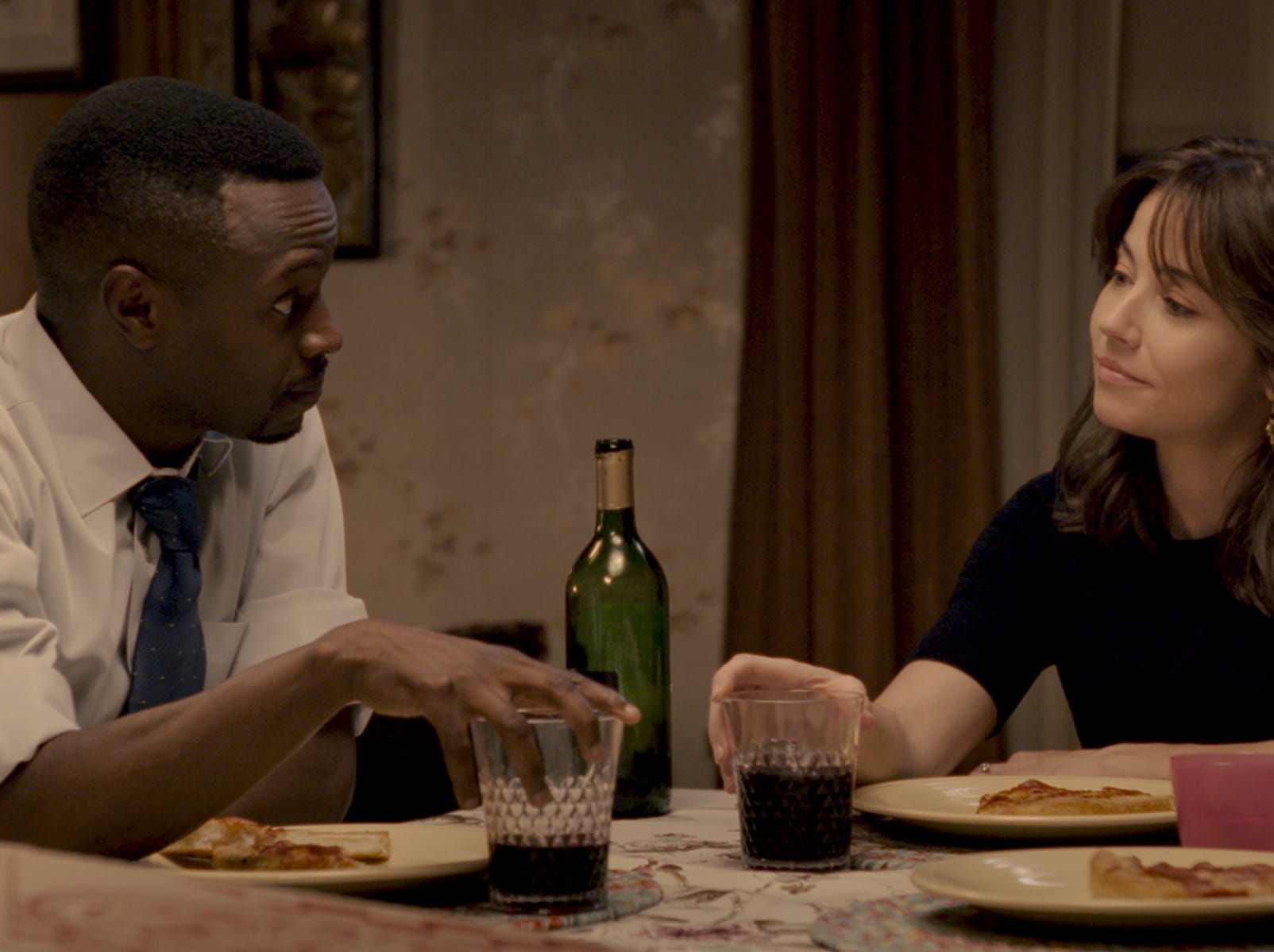 "In ""The Curse of La Llorona,"" Detective Cooper (Sean Patrick Thomas) and Anna (Linda Cardellini) get closer."