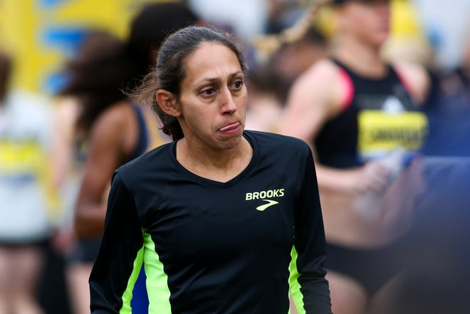Arizona State Athletic Hall of Famer Desiree Linden was the top American finisher Sunday at the New York City Marathon. Credit: Paul Rutherford/USA Today Sports