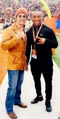 Bijan Robinson with actor Matthew McConaughey.