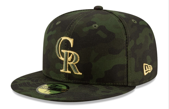 The Colorado Rockies revealed their special-event caps last week.