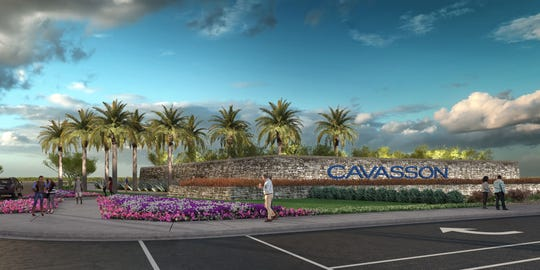 An artist's rendering shows the Cavasson mixed-use complex in Scottsdale where Nationwide will become the first anchor tenant, moving 2,200 workers to the facility in 2020, with room to expand.