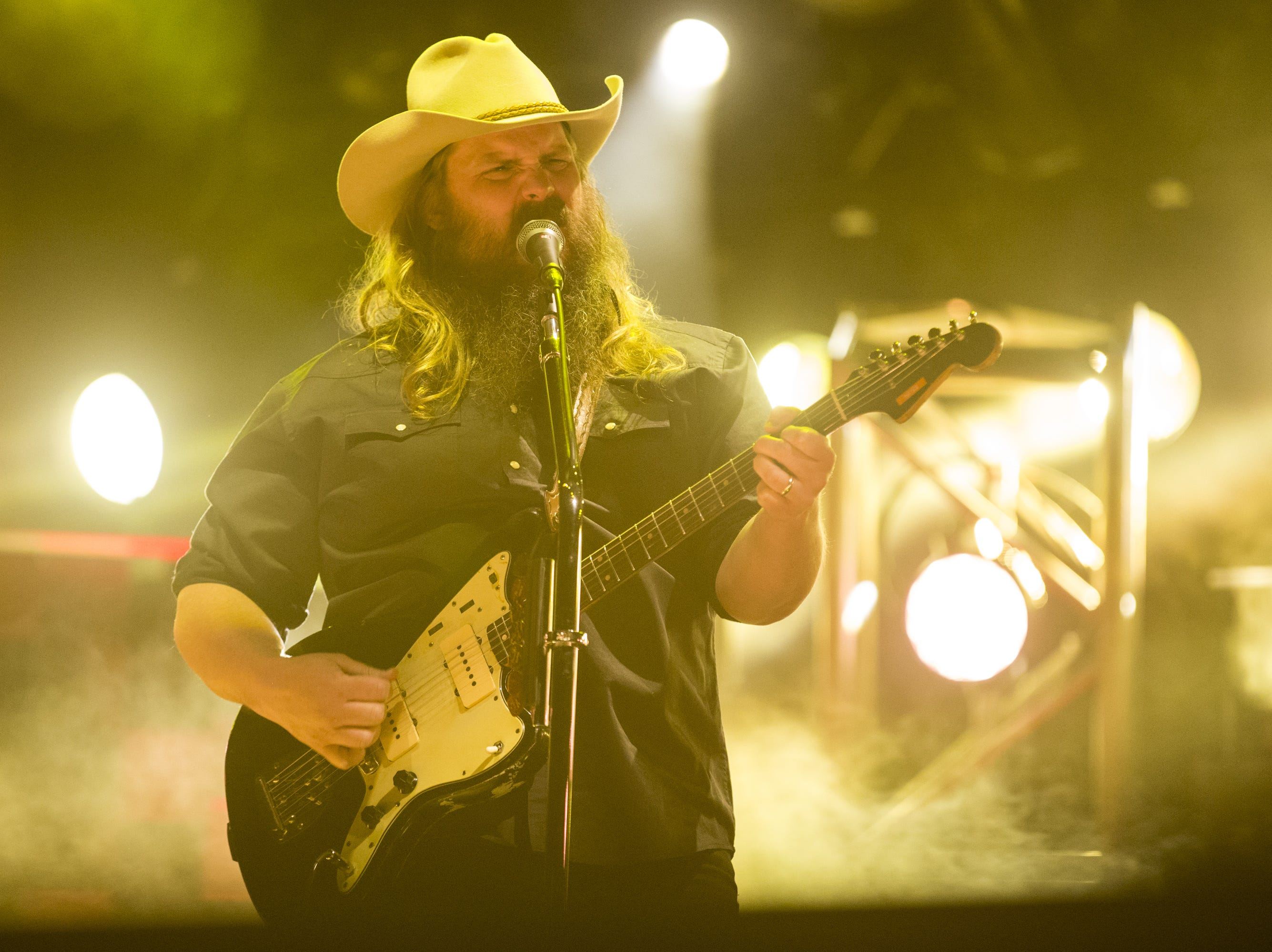 Chris Stapleton performs on April 14, 2019, during Day 4 of Country Thunder Arizona in Florence, Arizona.