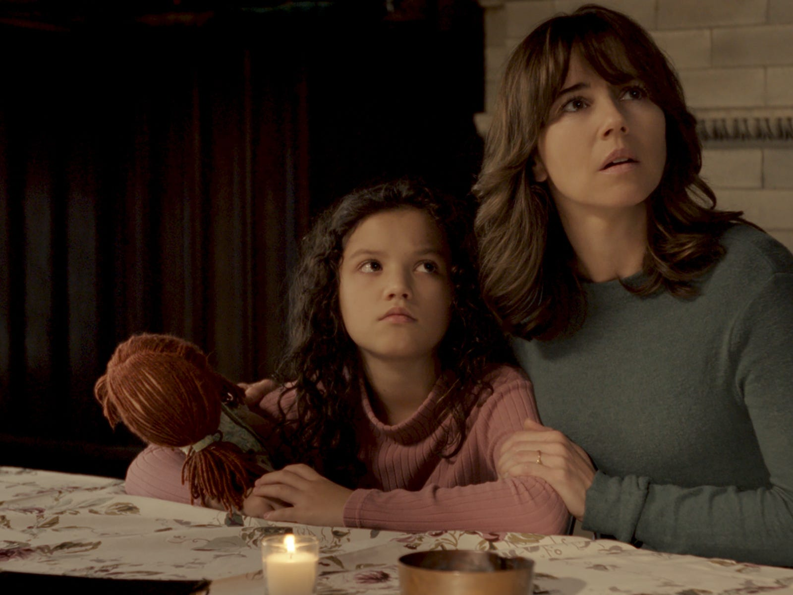 "Jaynee-Lynne Kinchen (left) and Linda Cardellini star in ""The Curse of La Llorona."""