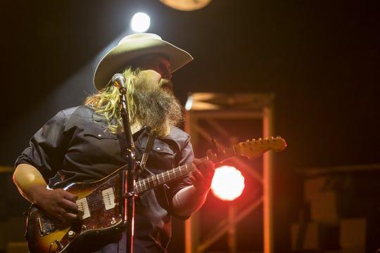Chris Stapleton performs on April 14, 2019, during Day 4 of Country Thunder Arizona in Florence, Arizona.