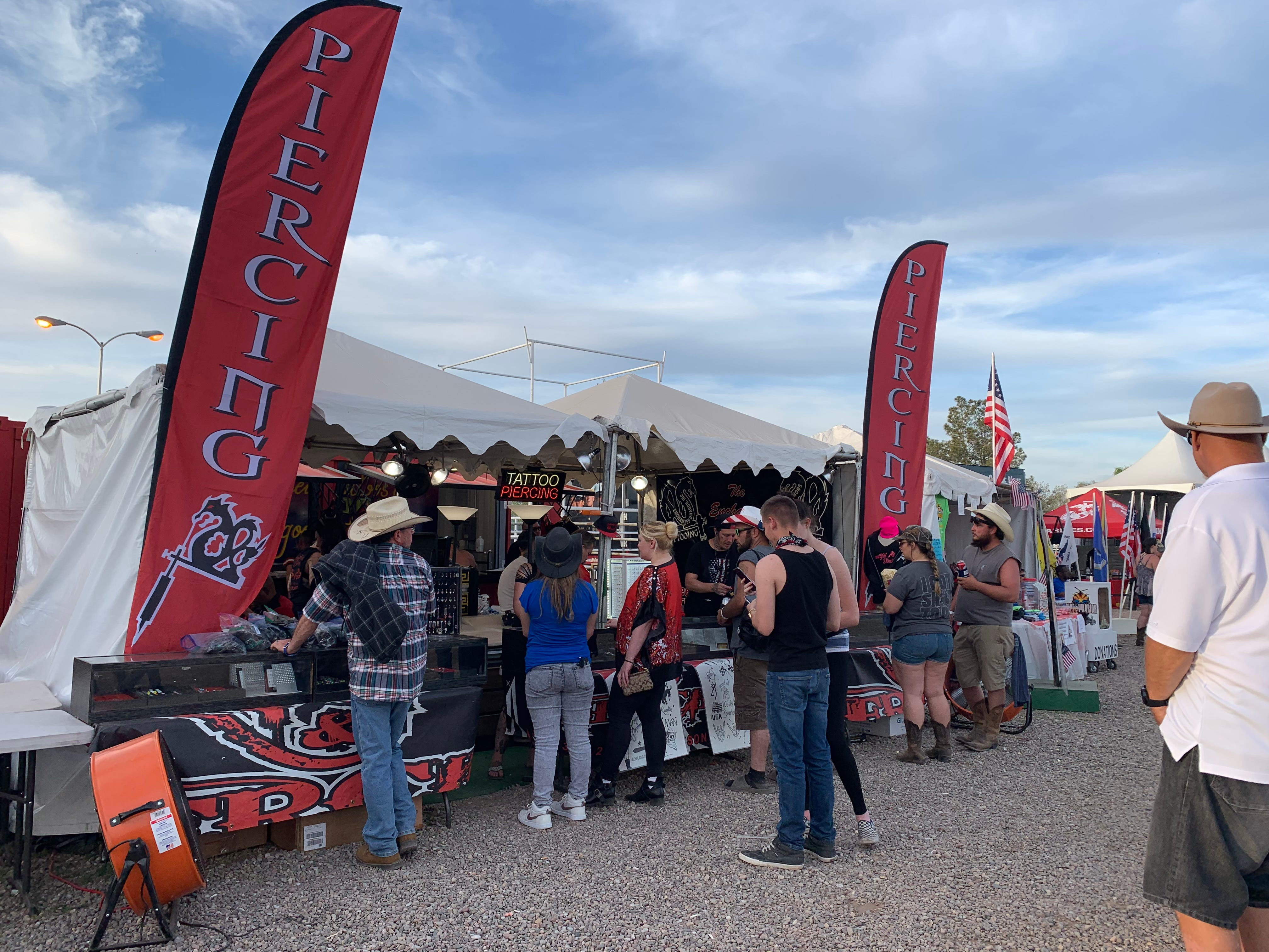 Inside The Enchanted Dragon, Inc. the first-ever Country Thunder tattoo parlor