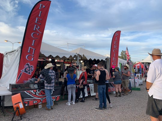 This was the first year Country Thunder allowed a tattoo parlor to set up shop on the grounds.
