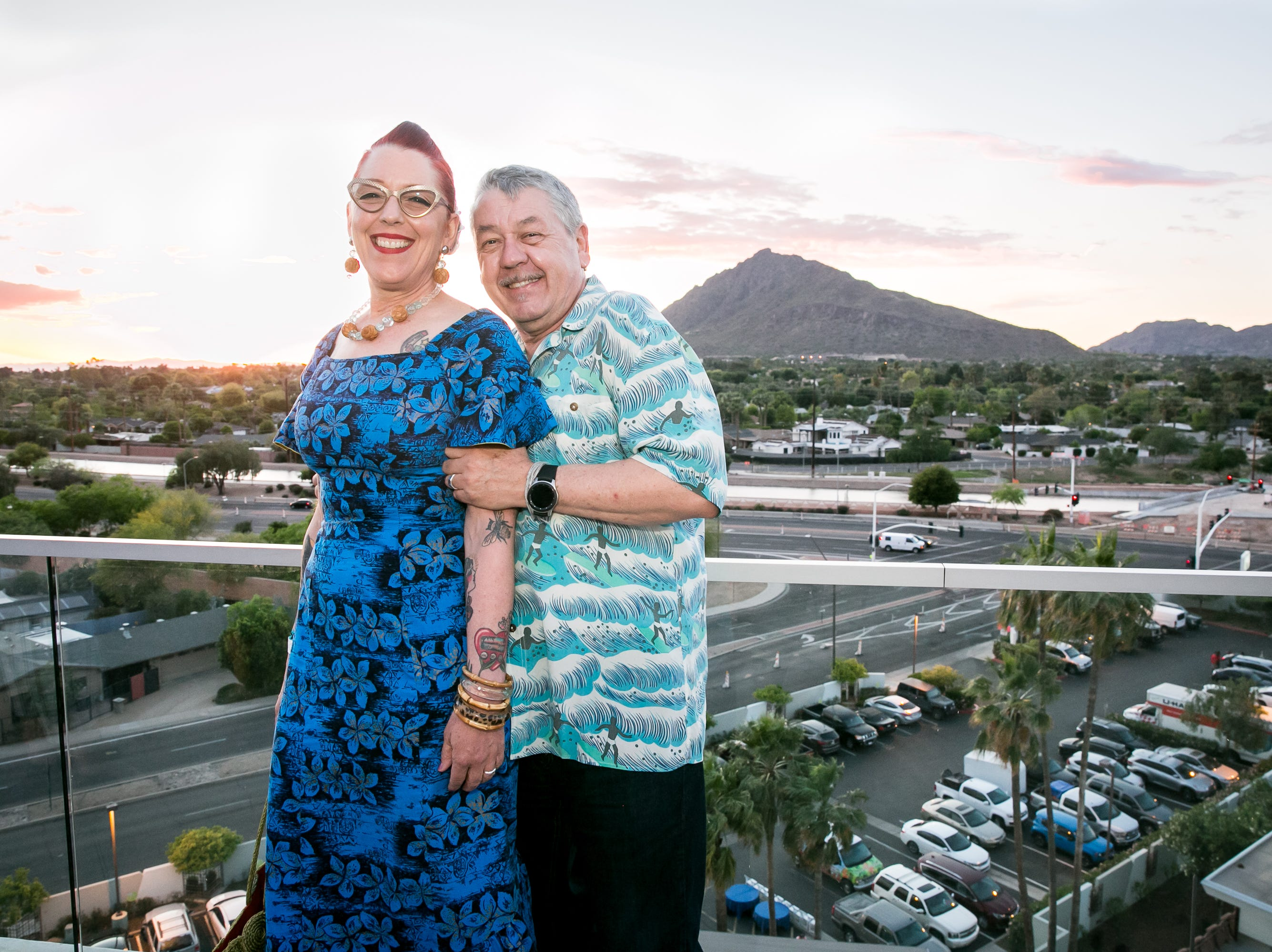 These two looked fantastic during Arizona Tiki Oasis at Hotel Valley Ho in Scottsdale on April 12, 2019.