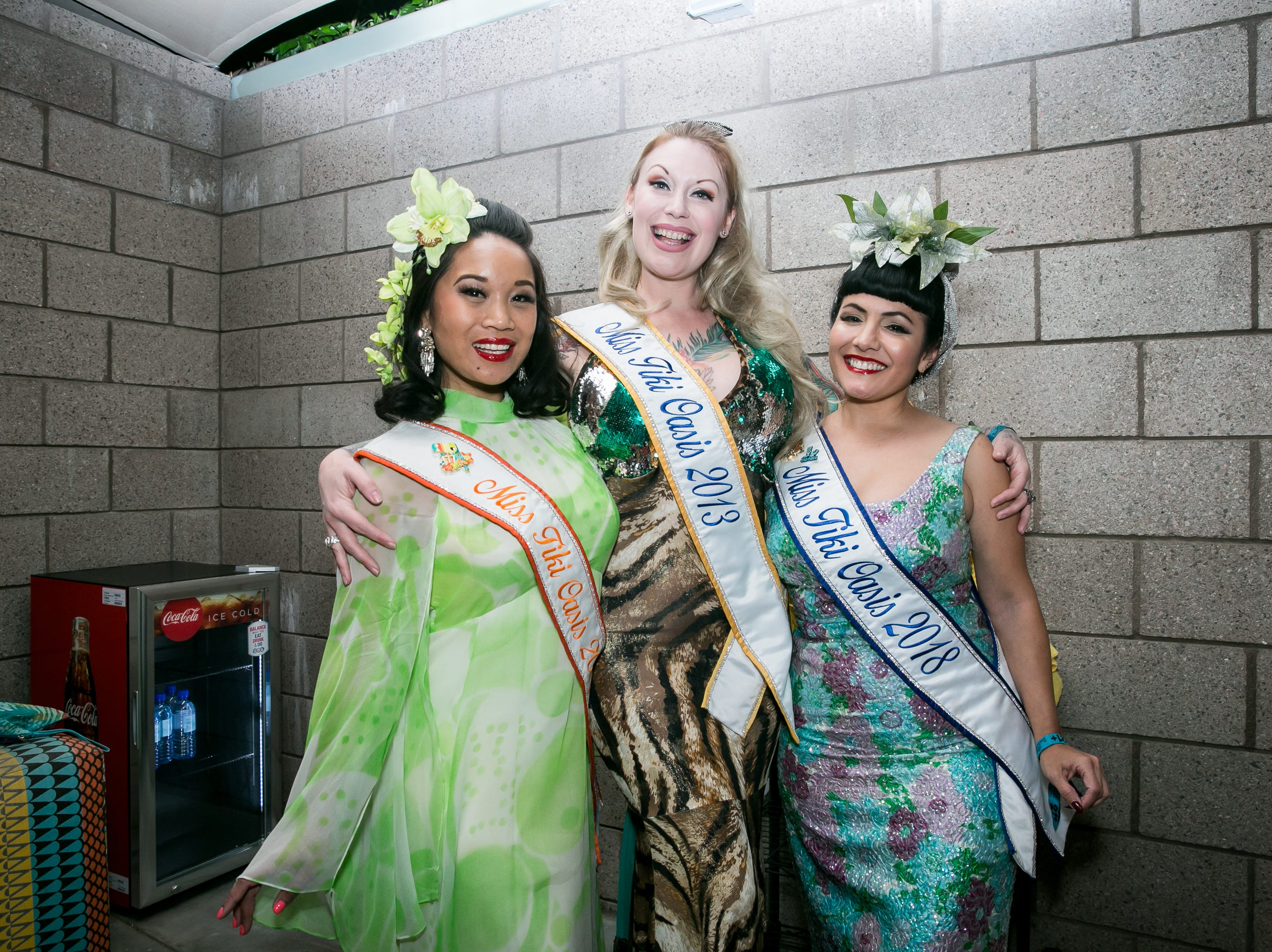 The previous Miss Tiki Oasis girls provided many photo opportunities during Arizona Tiki Oasis at Hotel Valley Ho in Scottsdale on  April 12, 2019.