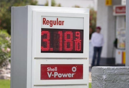 Gas prices on April 15, 2019, in Scottsdale, Arizona.