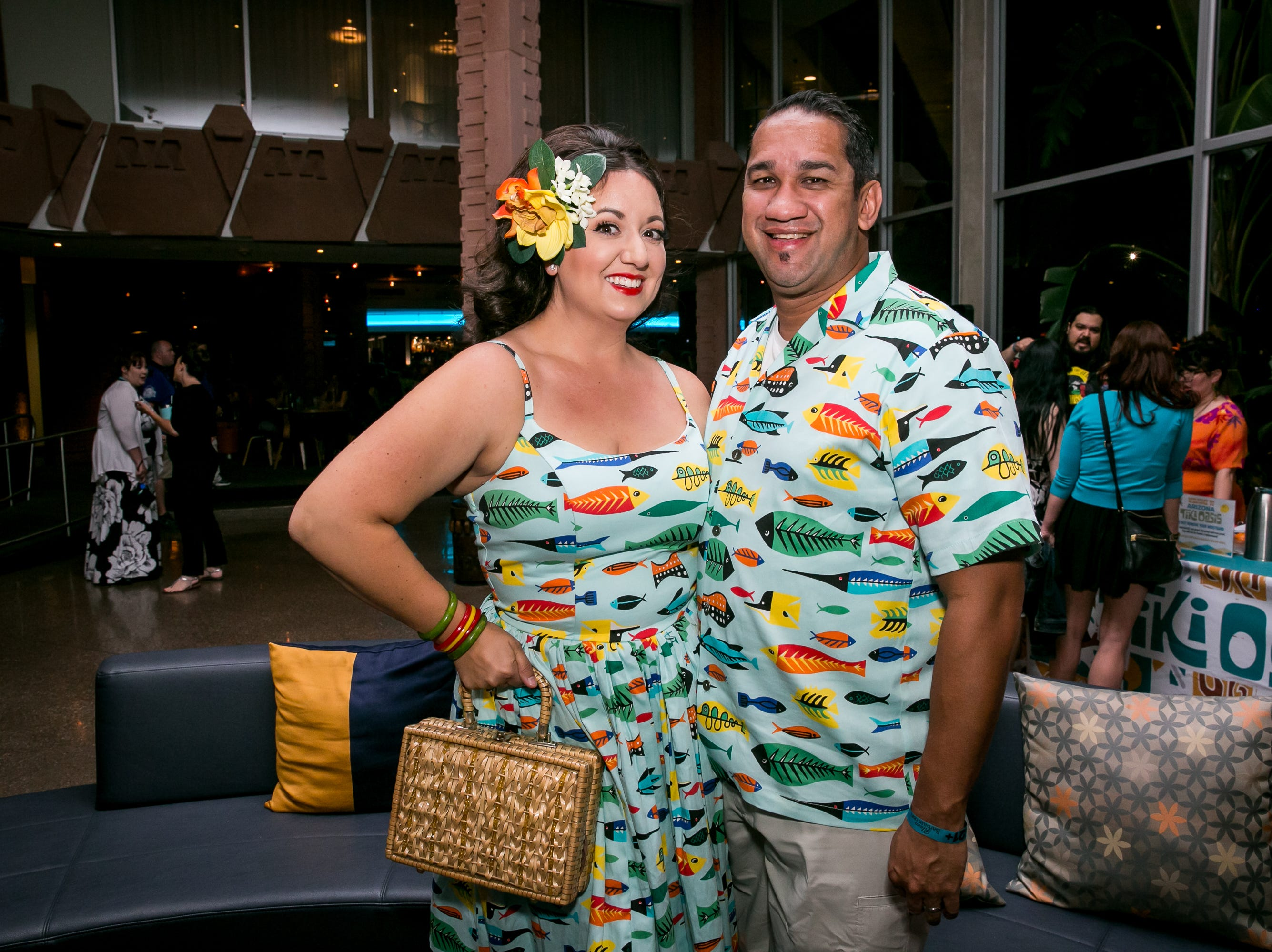 This couple looked phenomenal during Arizona Tiki Oasis at Hotel Valley Ho in Scottsdale on April 12, 2019.