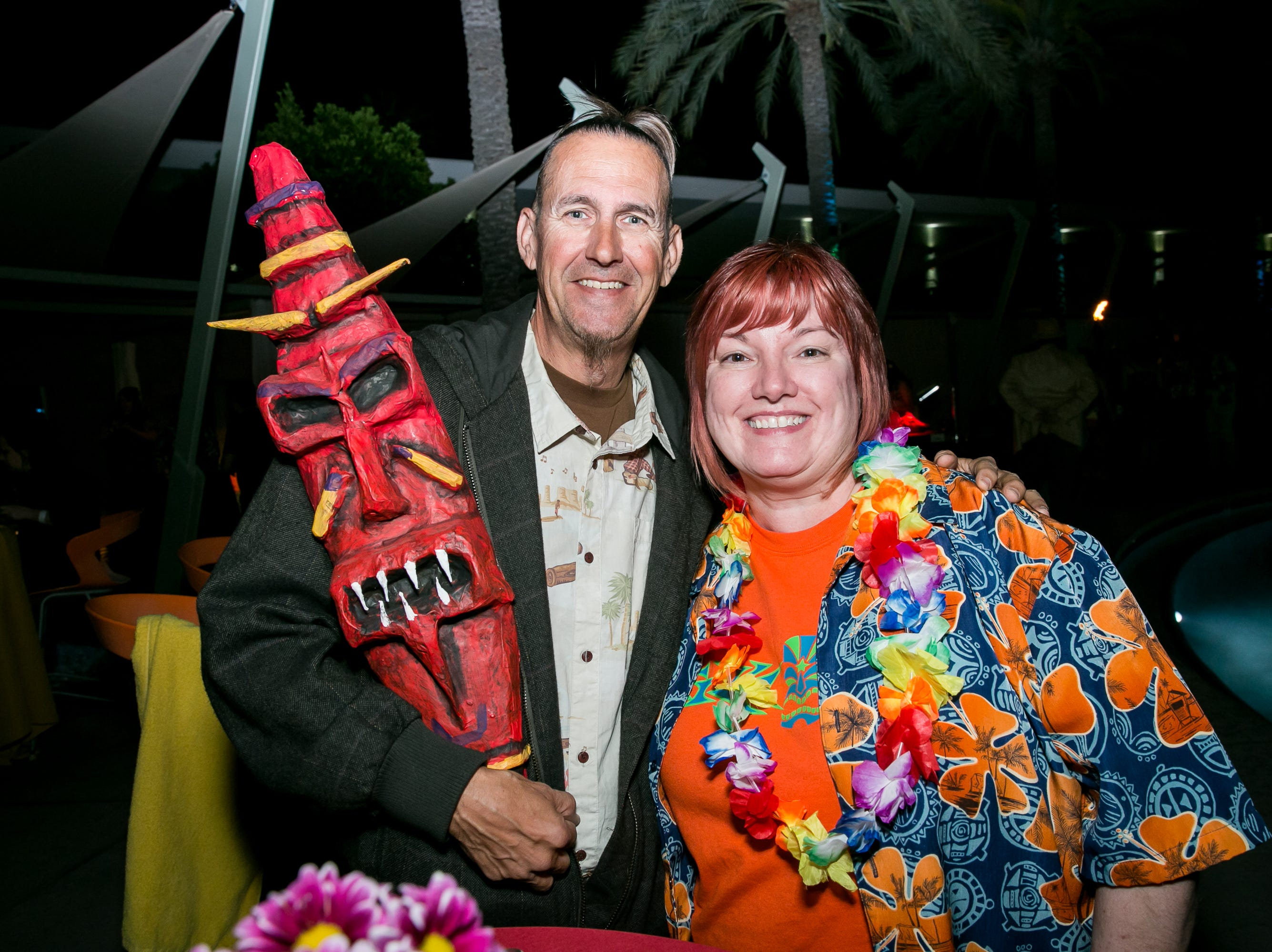 This couple was ready to party during Arizona Tiki Oasis at Hotel Valley Ho in Scottsdale on April 12, 2019.
