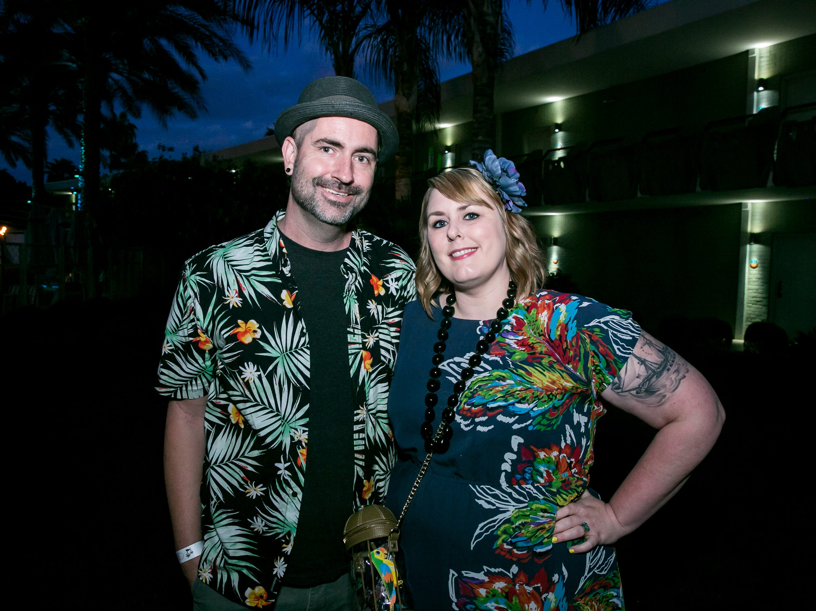 These two enjoyed a lovely date night during Arizona Tiki Oasis at Hotel Valley Ho in Scottsdale on April 12, 2019.