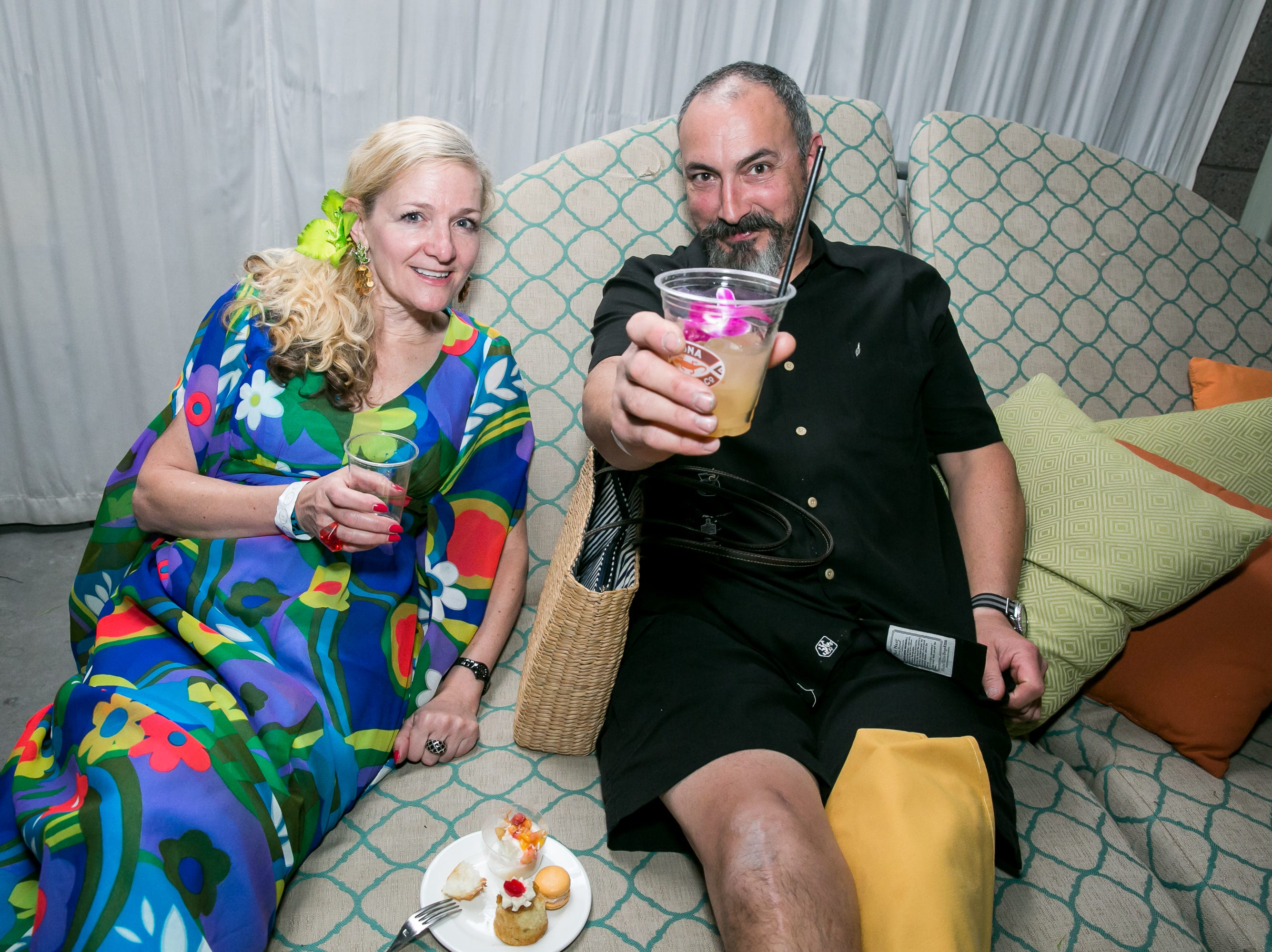 These two had a great night during Arizona Tiki Oasis at Hotel Valley Ho in Scottsdale on April 12, 2019.