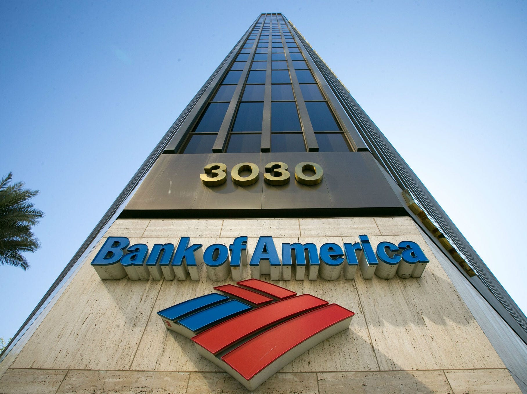 No. 16: Bank of America Corp. | Banking, financial services | 2019 employees: 9,200 | 2018 employees: 10,000 | Ownership: Public | Headquarters: Charlotte, North Carolina | www.bankofamerica.com