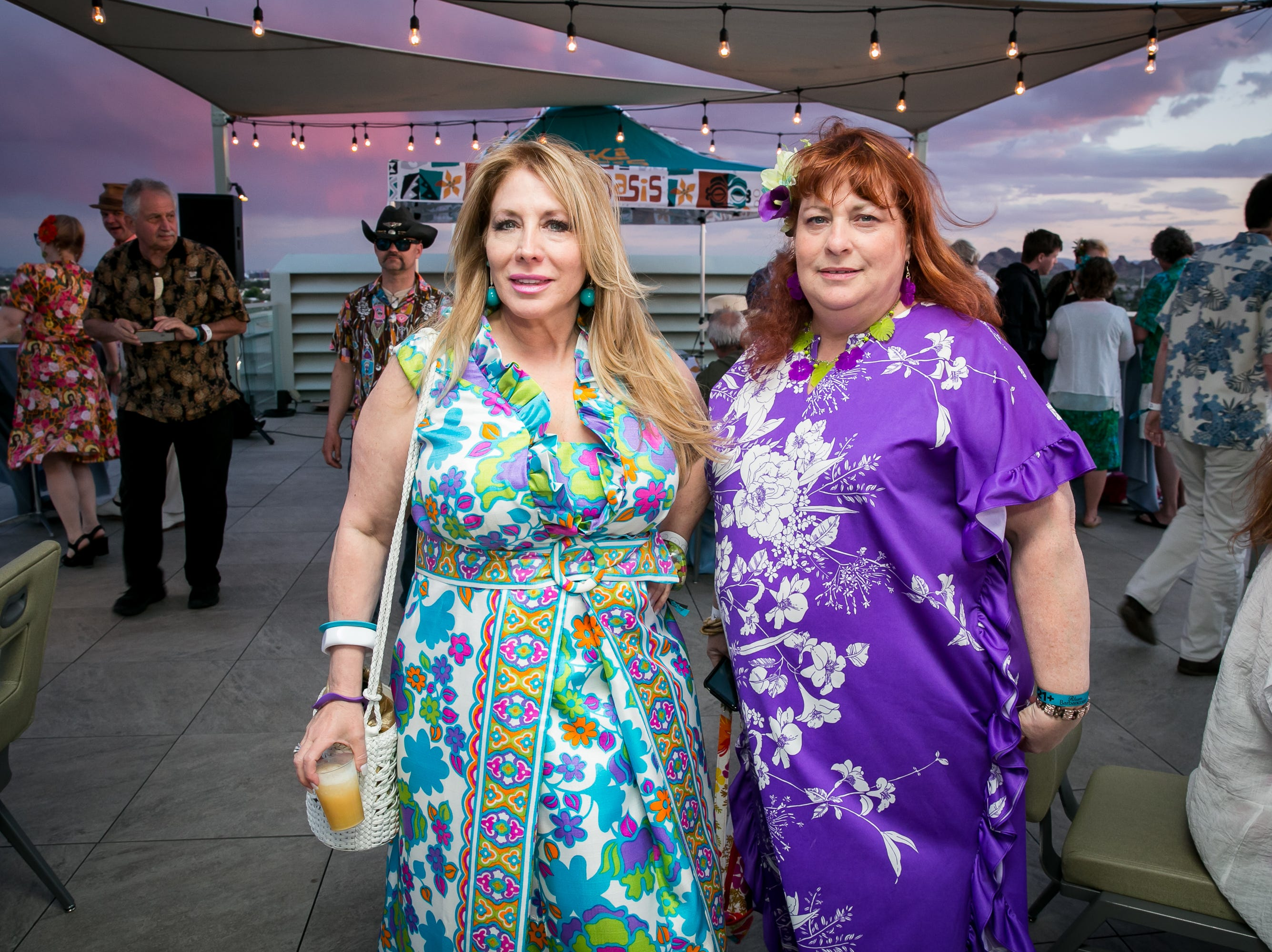 These ladies looked amazing and colorful during Arizona Tiki Oasis at Hotel Valley Ho in Scottsdale on April 12, 2019.