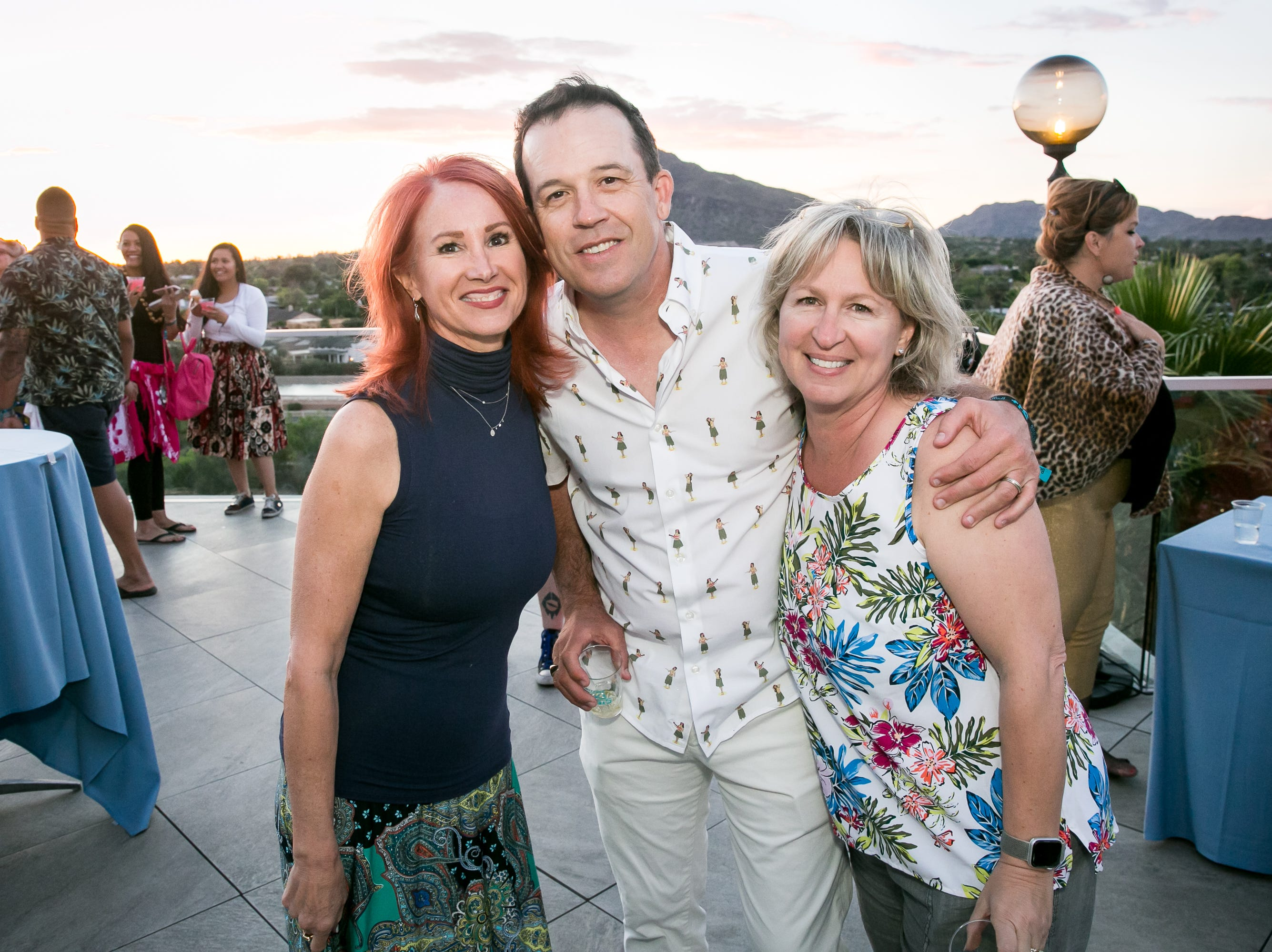 This trio enjoyed a lovely sunset during Arizona Tiki Oasis at Hotel Valley Ho in Scottsdale on April 12, 2019.