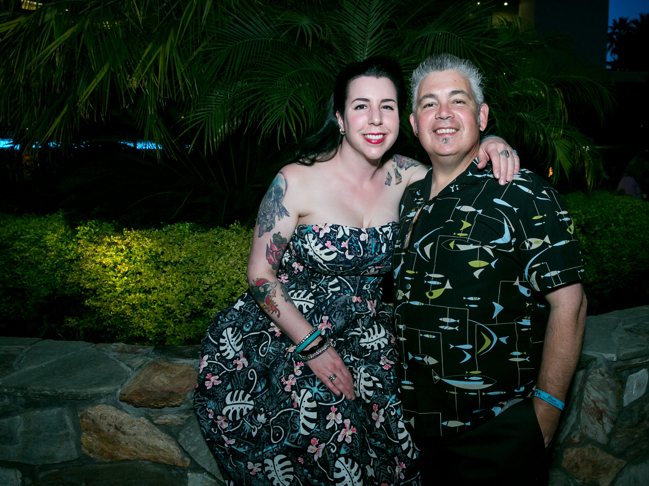 This duo looked great during Arizona Tiki Oasis at Hotel Valley Ho in Scottsdale on April 12, 2019.