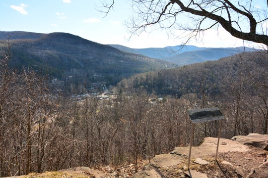 One of the views of Phoenicia Overlook from the Tanbark Loop.