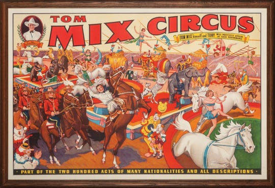 Silent screen movie star Tom Mix formed a traveling circus that came to Richmond on April 22, 1937.