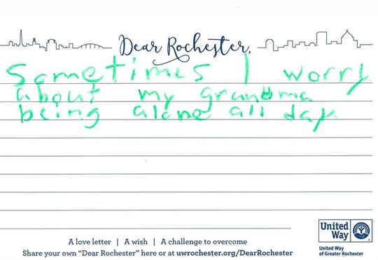 """A submission to the United Way's """"Dear Rochester"""" 2019 Campaign."""