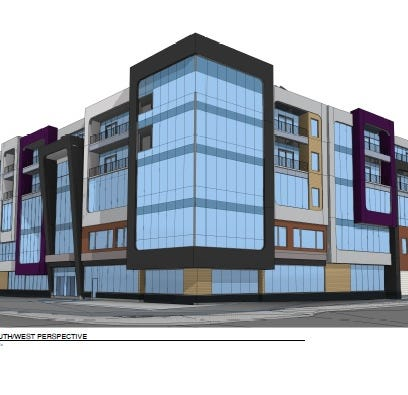 Check out new designs showing 5-story building for former Wegmans site in Midtown