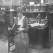 "Mary Hamlin researches the life of Alexander Hamilton, the first U.S. secretary of the Treasury, for her 1917 play ""Hamilton."""