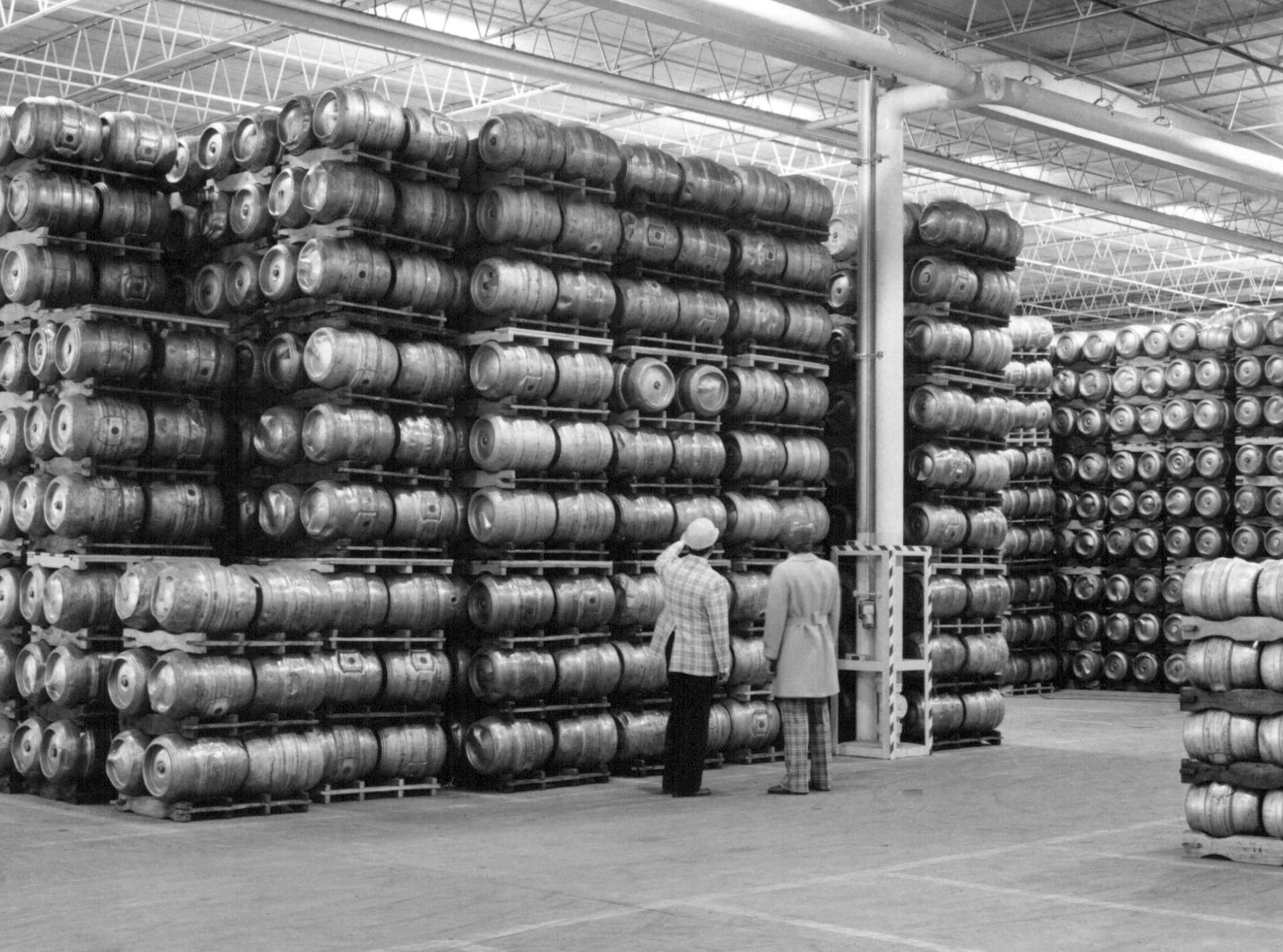 This photo from 1978 shows a Genesee Brewing warehouse, part of their $40 million expansion at that time.