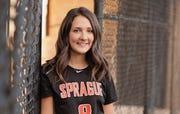 Megan Olson, Sprague softball.