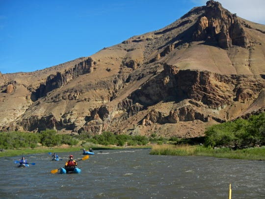 Rafting on the Owyhee River between Rome and Leslie Gulch in southeastern Oregon.