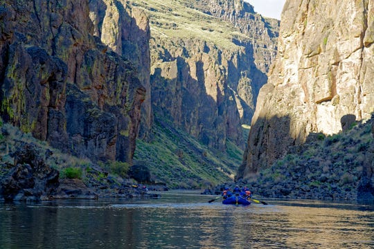 Rafting the Owyhee River between Three Forks and Rome.