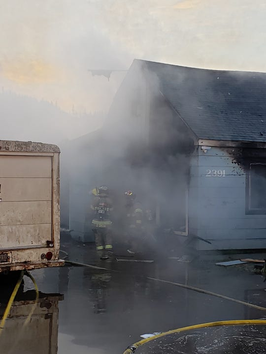 The Lebanon Fire District firefighters responded to a residential fire around 4 a.m. on the 2300 block of Porter Street. The noticed heavy flames and smoke originating from the rear of the house.