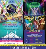 Cirque Italia Water Circus comes to San Angelo Thursday, April 18, through Friday, April 12, 2019.